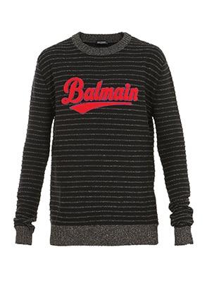 balmain logo 橫間衛衣